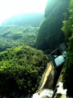 石手川ダム。